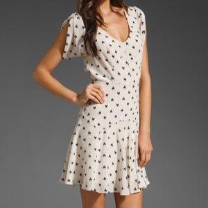 Rebecca Taylor Silk Ikat Heart Dress Size 8